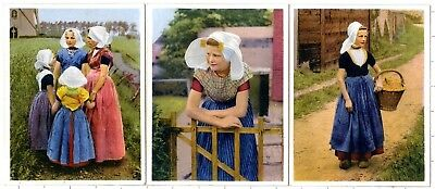 1910s-1920s Dutchies Mini Souvenir Collotypes Dutch Girls Zeeland Netherlands