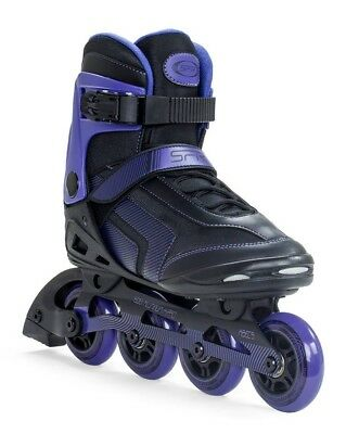 SFR Air X-Pro 80 Inline Skates rollerblades Unisex in Black Purple size UK 4