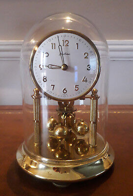 Beautiful BENTIMA Vintage 400 DAY Anniversary glass dome clock Working Perfect.