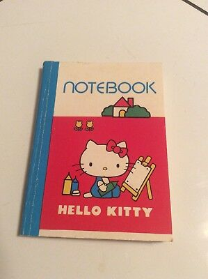 Vintage 1976 Sanrio Hello Kitty Mini Notebook Notepad Paper Made In USA