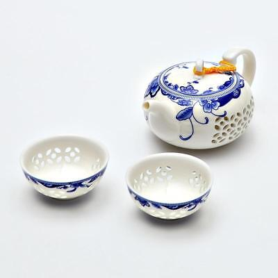 Ceramic Teapot Kettles Blue White Exquisite Porcelain Chinese Kung Fu Drinkware