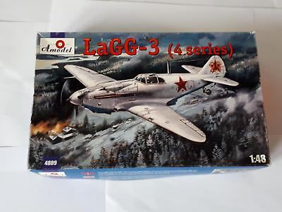 Amodel 4809 Soviet Lavotchkin LaGG -3 4 Series Russian Air Force Fighter 1:48