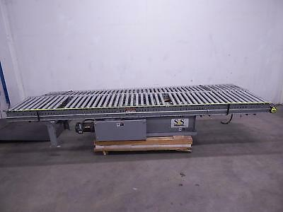 Automotion LR1CD-3027 12 FT Motorized Conveyor w 21 In Rollers and 1 HP Motor an
