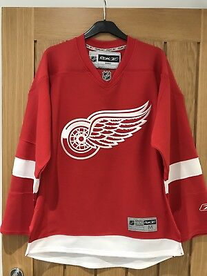 Reebok Premier Detroit Red Wings NHL Hockey Jersey - Red, Adult Size Medium.