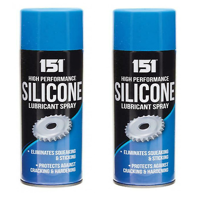2x High Performance Silicone Lubricant Spray Eliminates Squeaking Sticking 200ml