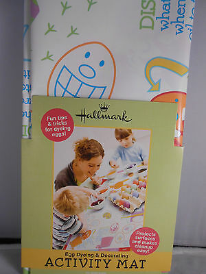 Hallmark Easter Egg Dyeing and Decorating plastic Activity Mat New 2' x 3'