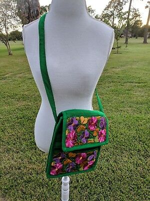 Mexican  Embroidered Shoulder  Bag Floral Crossbody