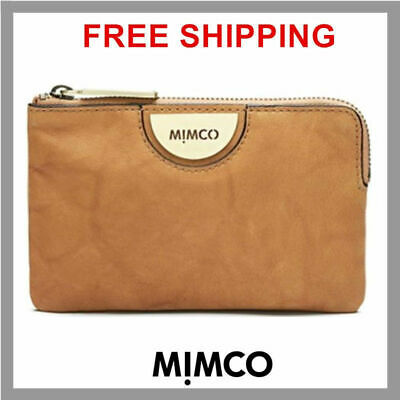 GENUINE Mimco HONEY ECHO S POUCH Leather Small Clutch Wallet Fits iPhone New DF