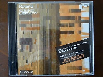 "Roland SL-JD80-02 SynthCard Drums and percussions ""Dance"""