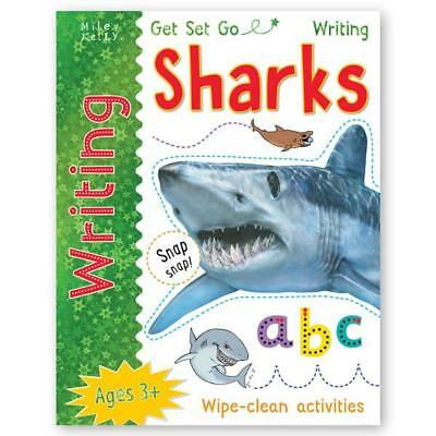 Learn to write Sharks wipe clean book (New Edition) PEN INCLUDED!!!!