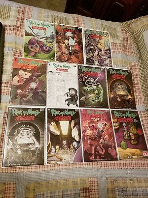 Rick and Morty vs Dungeons and Dragons #1 variant lot of 9 All NM/M 9.4 lowest