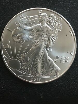 2016 Silver American Eagle with 1 oz Silver , Beautiful Coin, BU, MS (1390)