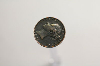 Uk Gb Farthing 1853 Victoria A97 #s152