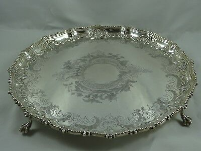 LARGE, VICTORIAN silver SALVER, 1857, 1158gm