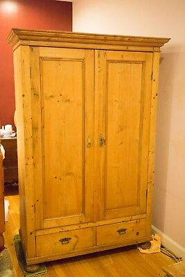 Charming Antique Pine Armoire