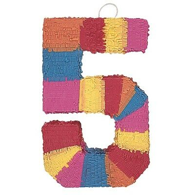 Number Five Age Milestone Multi Colour Pinata Party Game Decoration