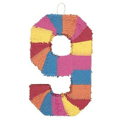 Number Nine Age Milestone Multi Colour Pinata Party Game Decoration