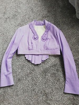 Regency Style Lilac Linen Spencer with matching reticule
