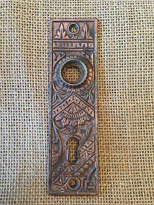 Antique Stamped Steel Door Plate with Copper Plating