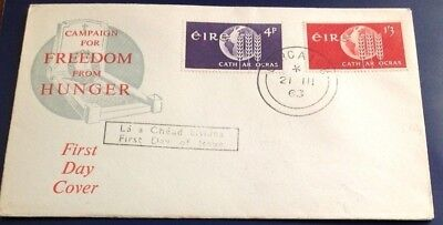 Ireland Freedom from Hunger 1963 First Day Cover