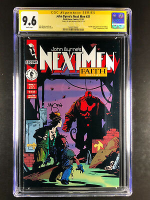 John Byrne's Next Men 21 CGC 9.6 signed by Mike Mignola 2nd Hellboy 1st color