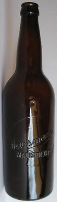 HAUSMANN MADISON WISCONSIN WIS WI Mouth Blown Crown Cap Finish Beer Bottle 24oz