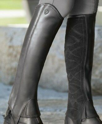 Ariat Classic III Leather Half chaps/Gaiters Black extra large