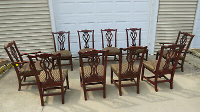 Bon Knob Creek Set Dining Room Chairs Chippendale Eight Cherry