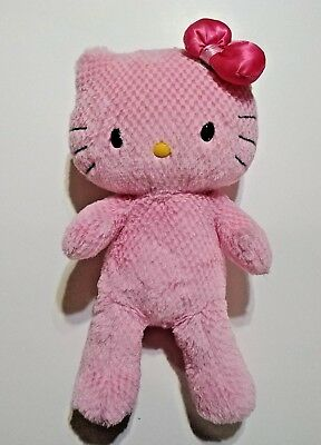 Build A Bear Plush Hello Kitty Pink 18 inch Sanrio with Pink Bow