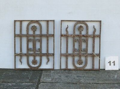 Antique Egyptian Architectural Wrought Iron Panel Grates (IS-011)