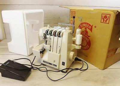 Singer 14U134 Overlocker Sewing Machine Semi Industrial With Pedal, Box & Insert