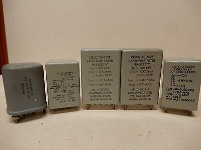 Collins R-390A Band Pass Filters 800 CPS (2) 10K - 600 Ohm Transformer 4 Hy Chok
