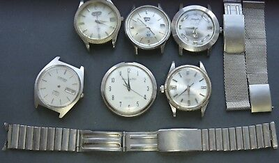 JOB LOT of 6x Vintage Citizen Mechanical Watches