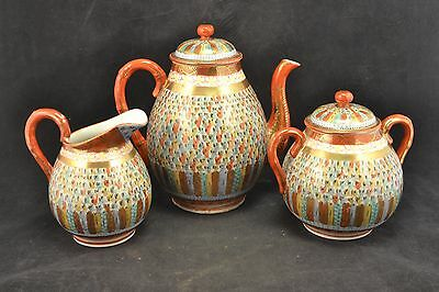 Antique Kutani Japanese 1000 thousand Faces Tea Set    ND3205j