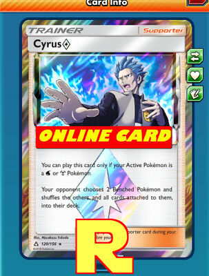 Cyrus - Prism Star - for Pokemon TCG Online ( DIGITAL ptcgo in Game Card)