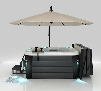Cover valet Hot Tub Spa Undermount Base Plate Umbrella RRP £499 Cream