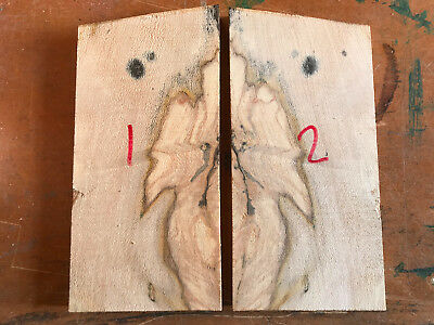 Spalted sycamore maple craft blank / knife scale / carving block 150x72x10-11mm