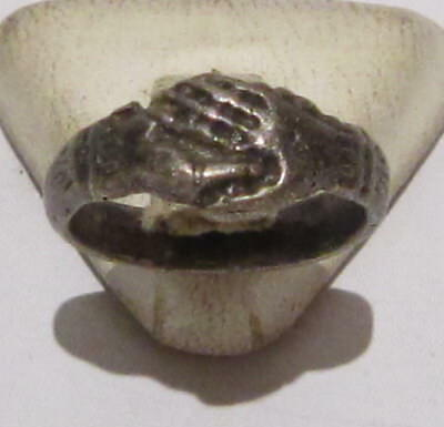 Amazing Medieval Or Post-Medieval Silver Ring With Nice Decoration # 349