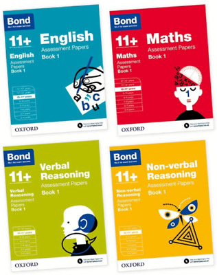 Bond 11+ English & Maths Assessment Papers, Ages 10-11 Years (set of 4 books)