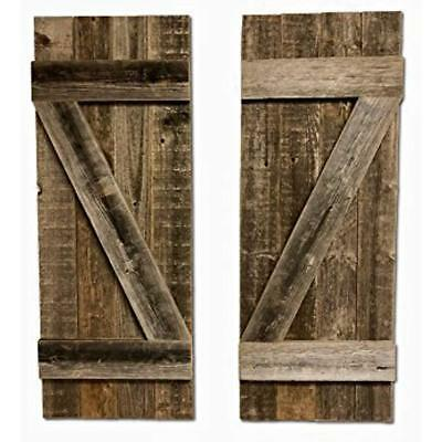 Rustic Decorative Accessories Farmhouse Window Shutters (Set Of 2) Made 100% And
