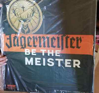 NEW Jagermeister BE THE MEISTER JAGER TIN METAL SIGN  HUGE  2  foot X 2 foot