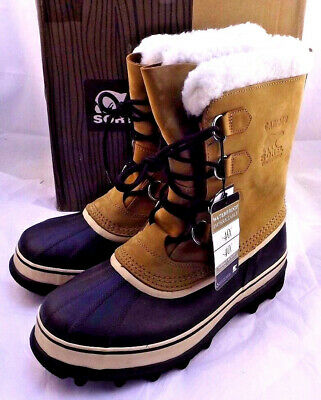 NIB SOREL Caribou Size 9 M Buff Men's Winter Snow RETAIL $150