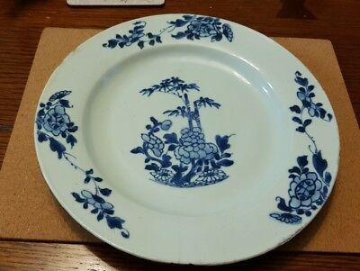 Antique Chinese Blue and White Plate 19th Century
