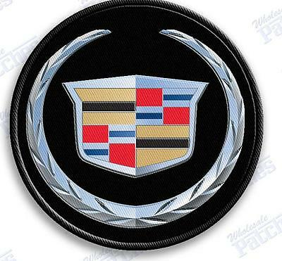 CADILLAC   auto car iron on embroidery patch  2.0 X 2.0  INCHES ESCALADE PATCHES