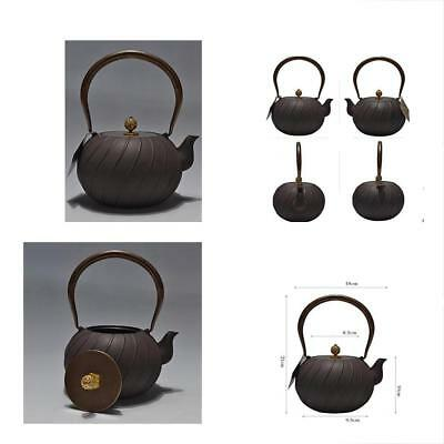 - Teapots Japanese Iron Handmade Cast Pots Pig Old Boiled No Coating Roads 1.2L