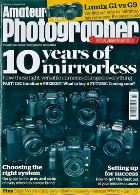 AMATEUR PHOTOGRAPHER MAGAZINE 18th AUGUST 2018 ~ NEW ~