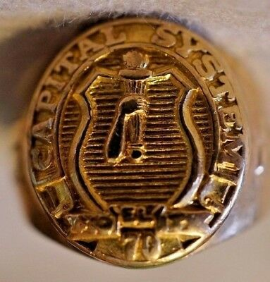 10K Gold Men's Ring Capital Systems Weighs 14.44g