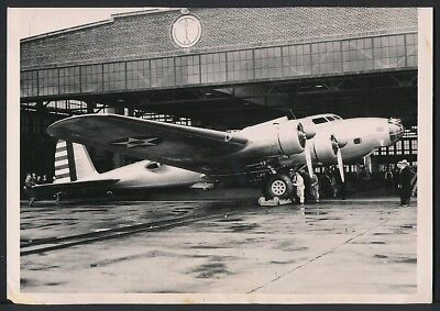 1936 Original Photo WWII - U.S. Army Air Force B-17 FLYING FORTRESS Bomber