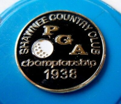 "1938 Us Pga (Paul Runyan- Record Match Play Win Margin) 1"" Coin Golf Ball Marker"