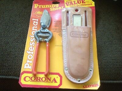 Corona SC 70 Corona Clipper Bypass Pruning Shears with Leather Scabbard USA NOS